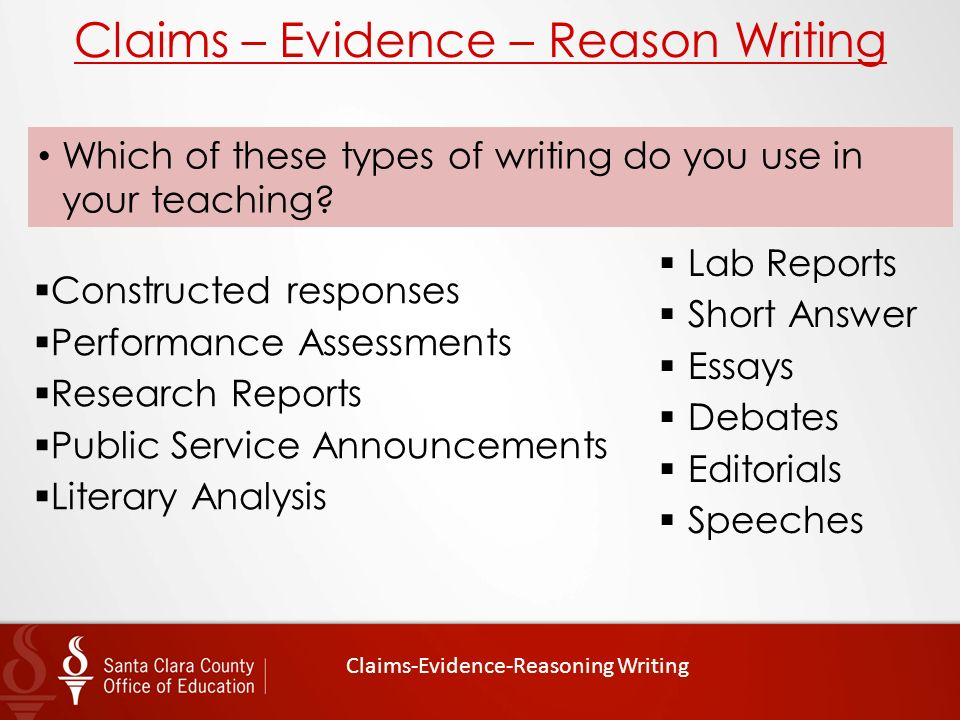 reasons for writing an essay