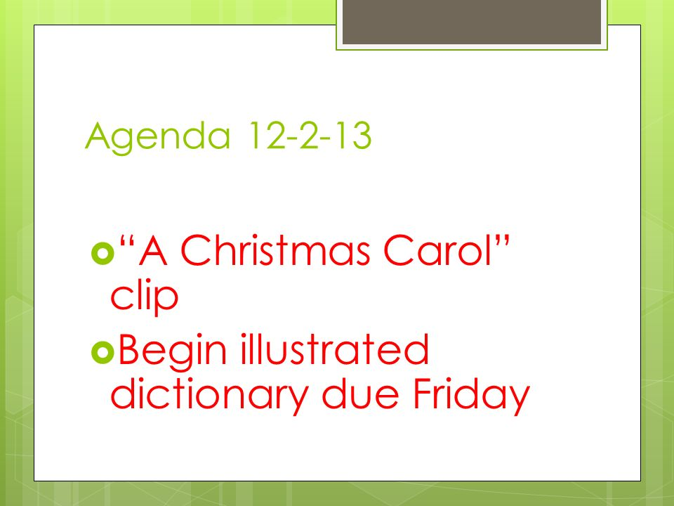 A christmas carol clip begin illustrated dictionary due for Start dictionary