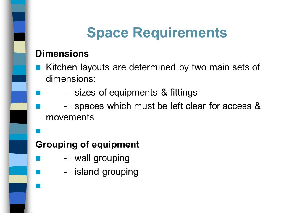 18 Space Requirements Dimensions