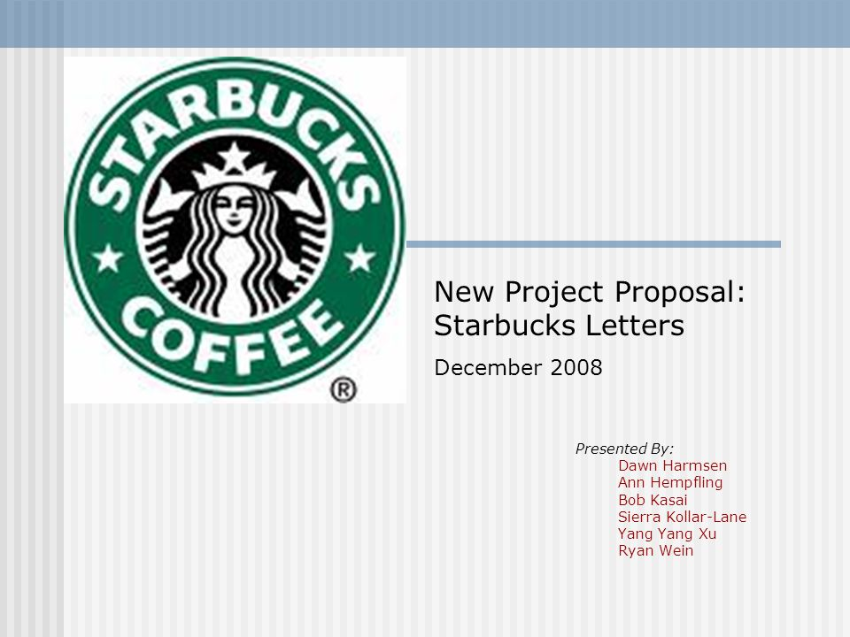 starbucks project proposal Scribd is the world's largest social reading and publishing site.