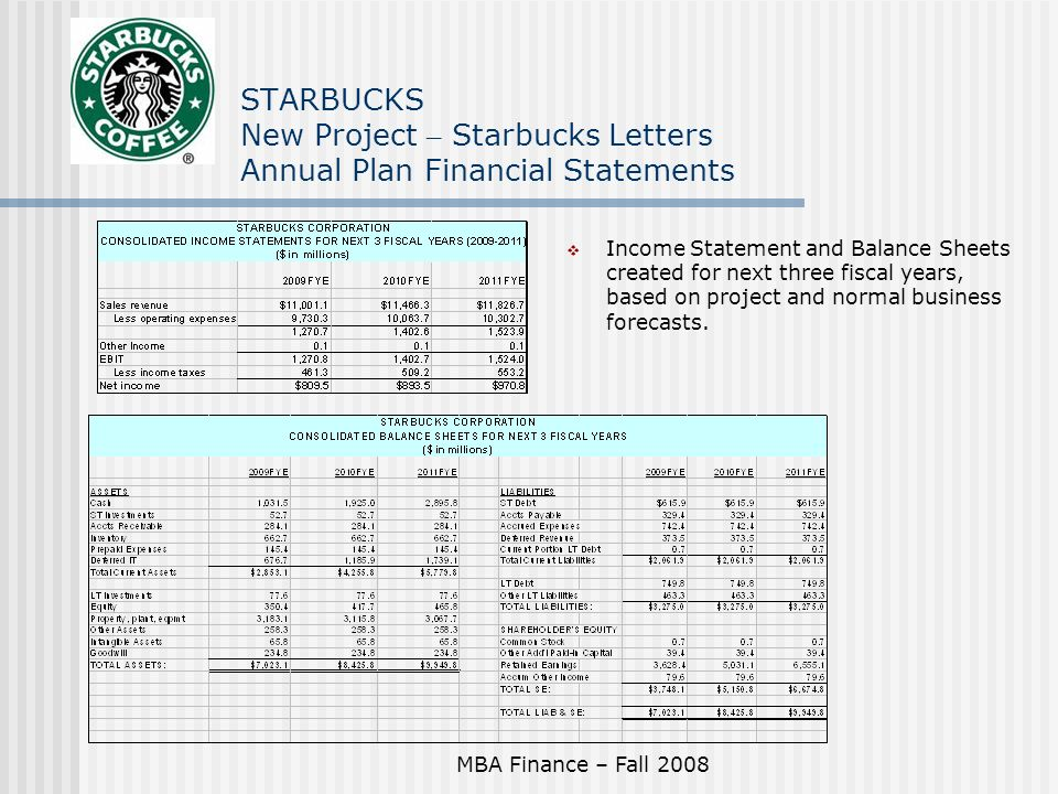 starbucks annual report 2008