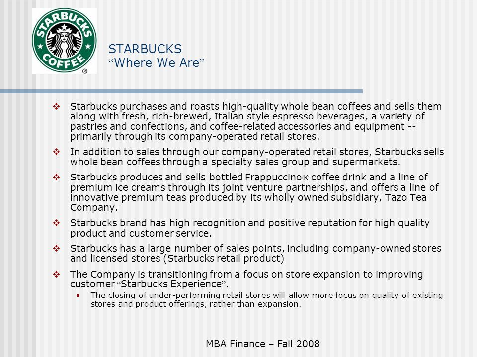 starbucks project proposal A new retail development project in the north end was proposing the starbucks shop at the corner of hanover street, across from the rose kennedy greenway advertisement.