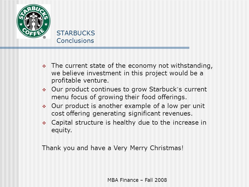 Starbucks project proposal