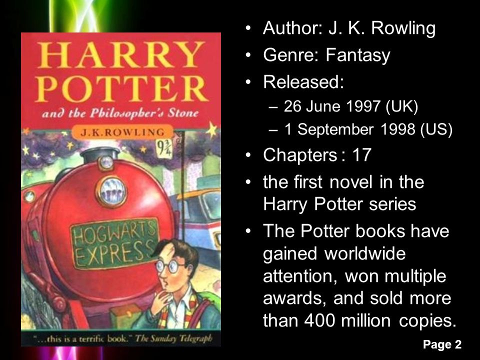 Harry Potter Book Genre : Unit harry potter and the sorcerer s stone ppt video