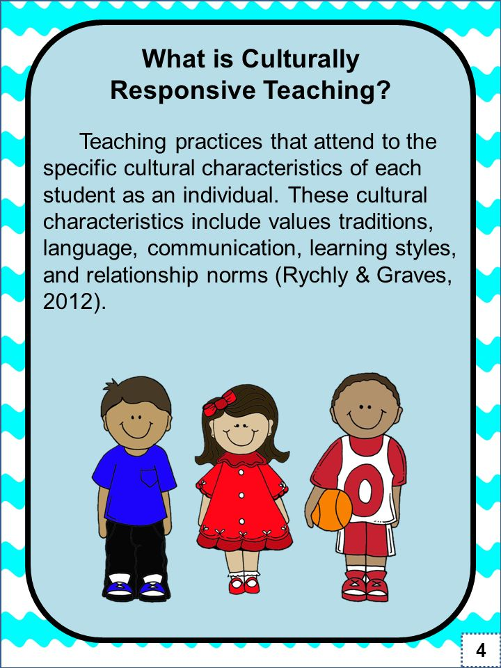 culturally responsive teaching Culturally responsive teaching has 84 ratings and 11 reviews carmen said: i purchased this book for a class i discovered that the majority of the infor.