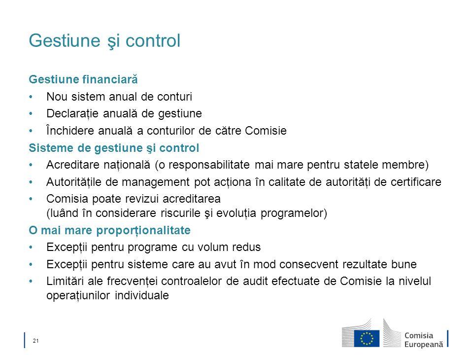 Gestiune şi control Gestiune financiară Nou sistem anual de conturi