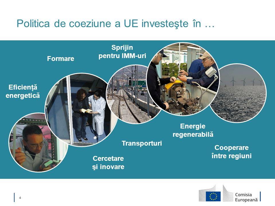 Politica de coeziune a UE investeşte în …