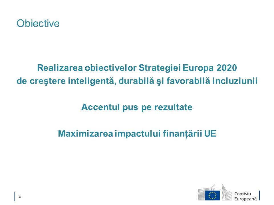 Obiective Realizarea obiectivelor Strategiei Europa 2020