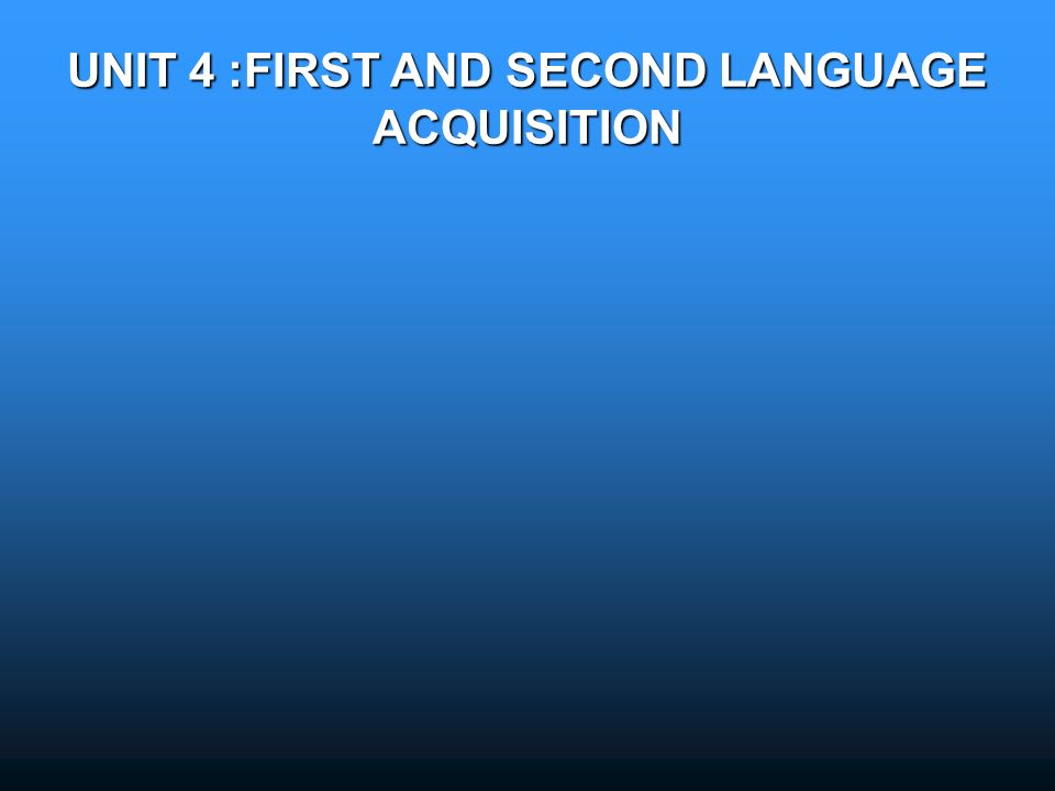 first language acquisition definition pdf
