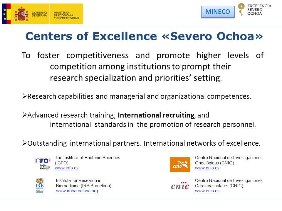 Centers of Excellence «Severo Ochoa»