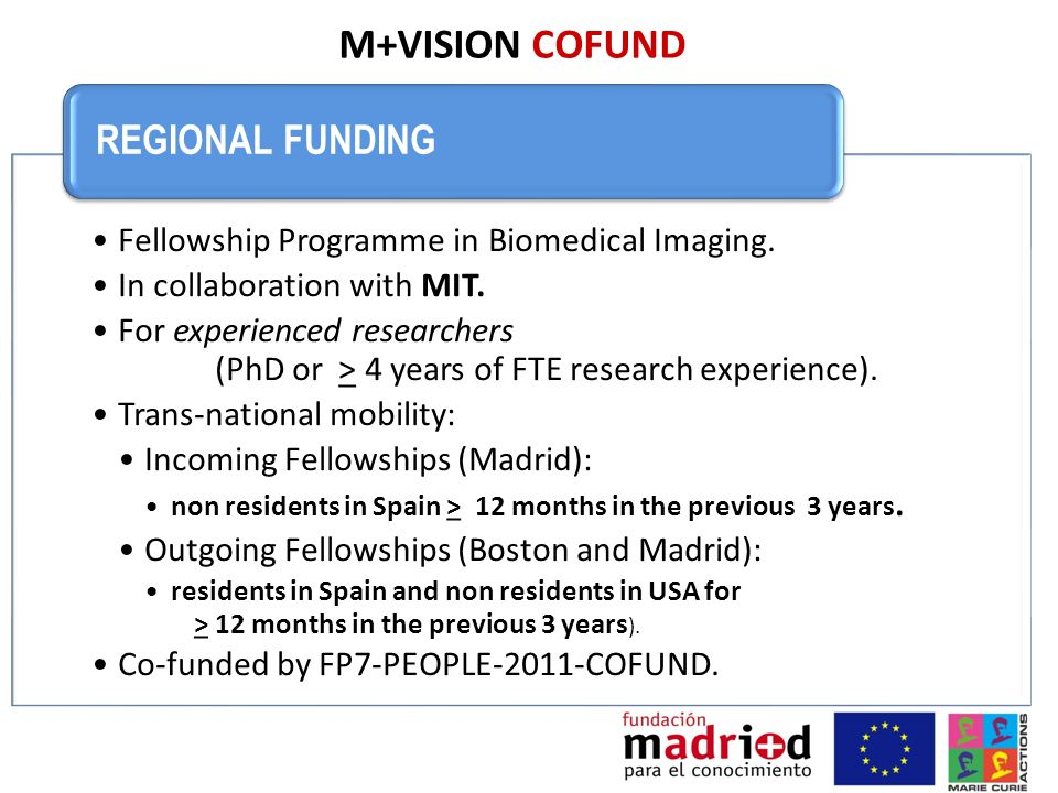 M+VISION COFUND REGIONAL FUNDING