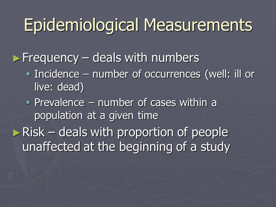 Epidemiological Measurements
