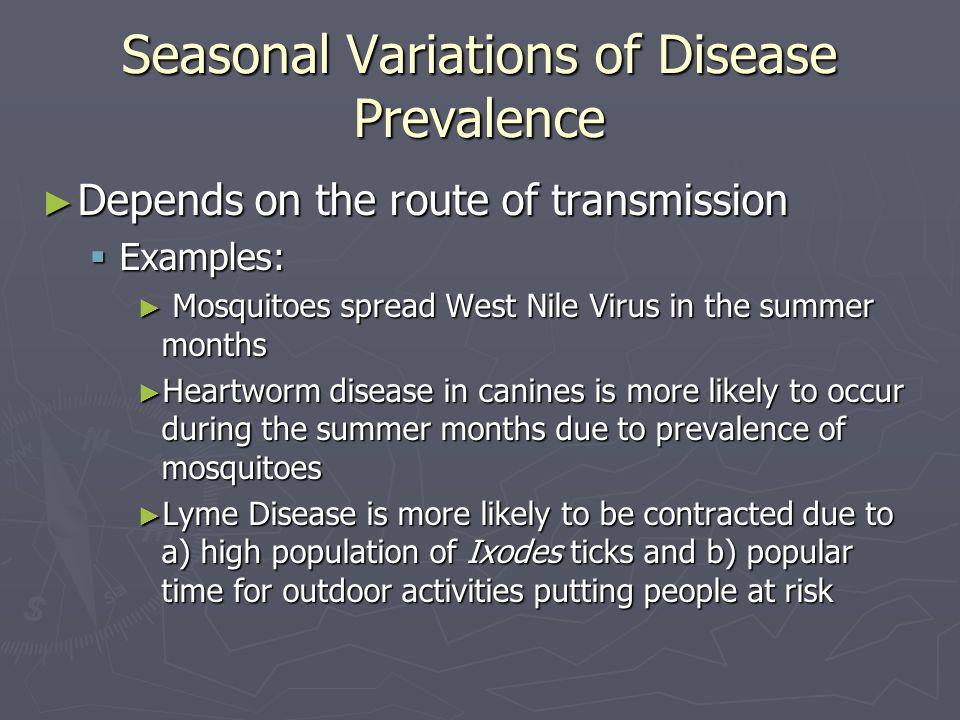 Seasonal Variations of Disease Prevalence