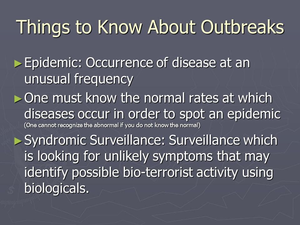 Things to Know About Outbreaks