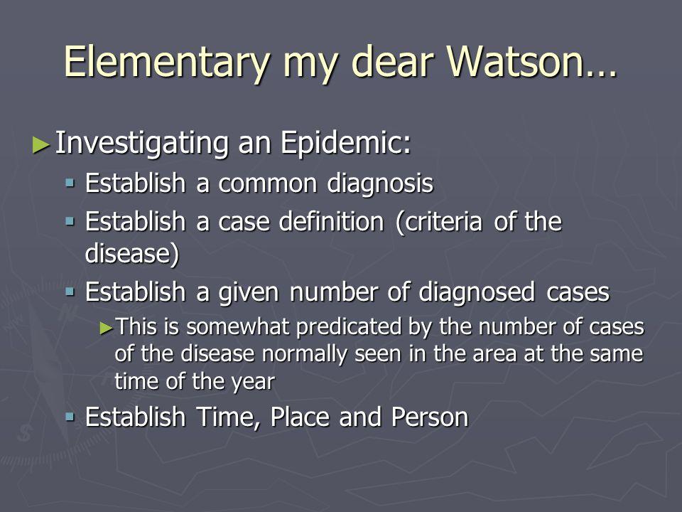 Elementary my dear Watson…