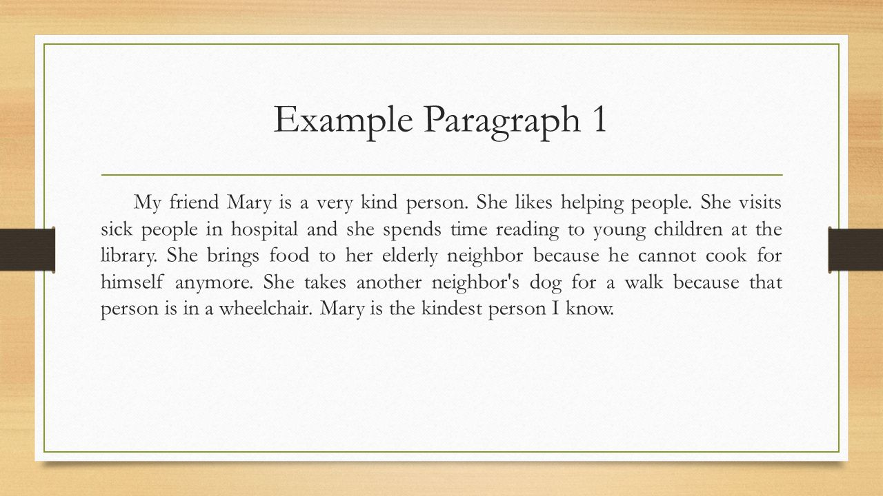 paragraphs for friends