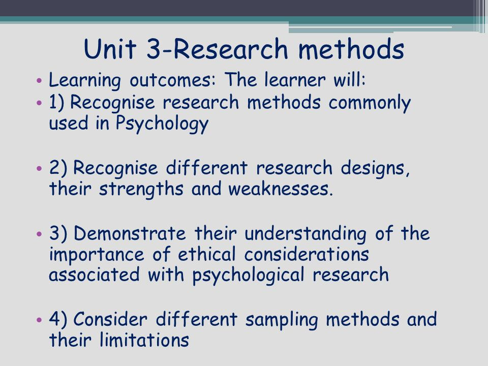 """major research designs and methods psychology essay Explain why social psychologists rely on empirical methods  as you can see in table 14 """"three major research designs  social psychology research is."""
