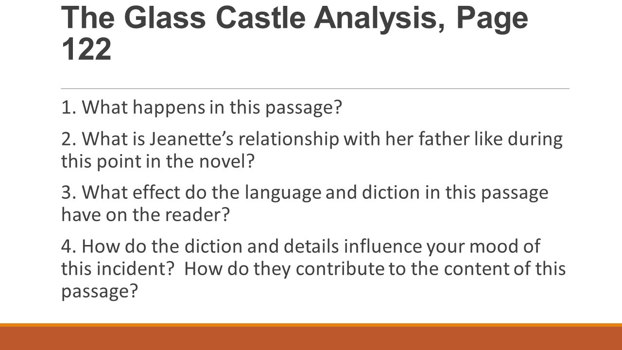 AP Lang Summer Assignment Glass Castle