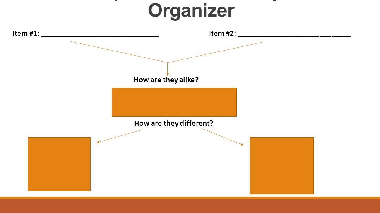 comparison contrast essay graphic organizer