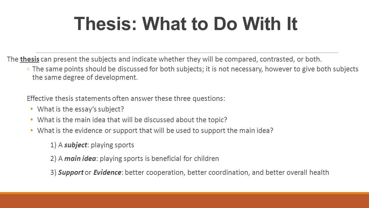 compare contrast essay structure ppt video online  6 thesis