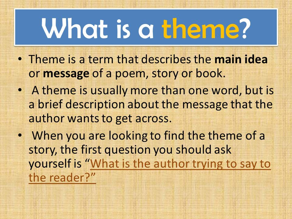 the main theme of the story How to teach theme in the upper grades, including smart notebook files (also in pdf form), a project idea, and printable graphic organizers and posters.