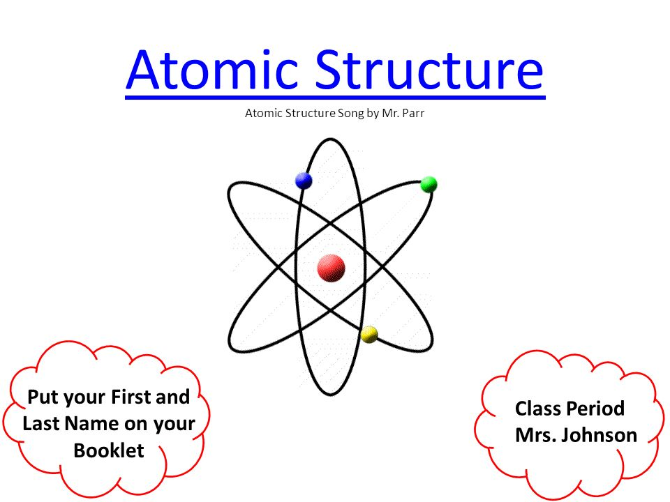 how to find the atomic structure of atom