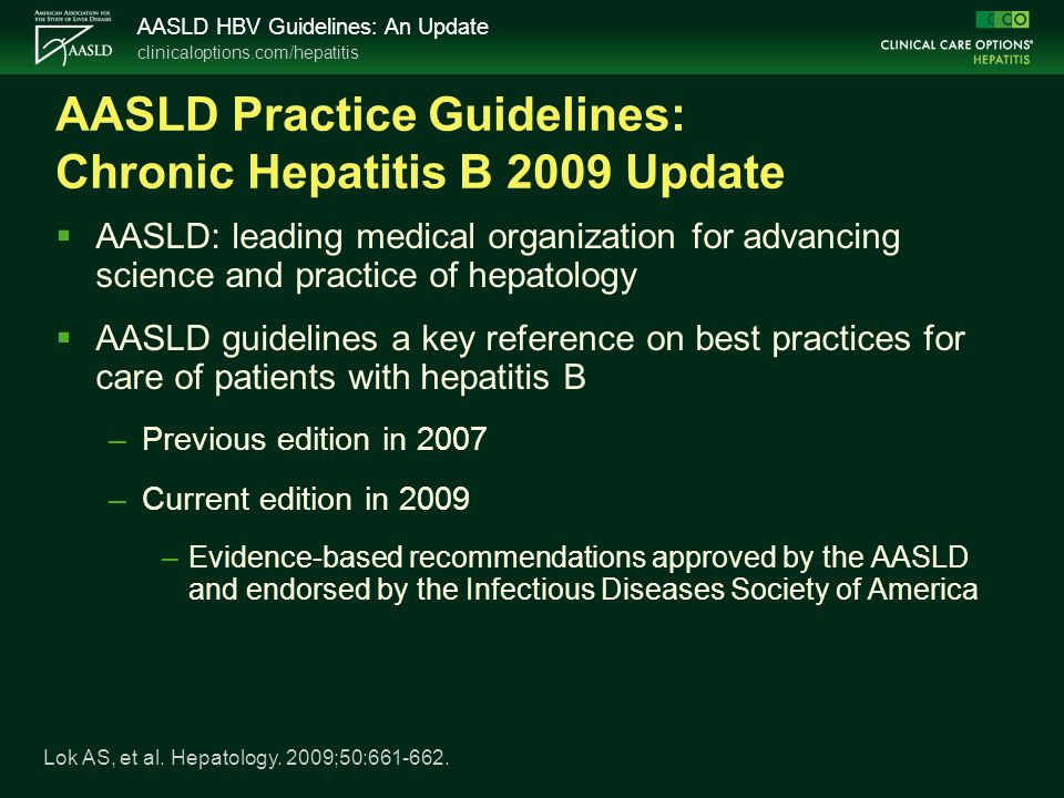 american association for the study of liver diseases aasld guidelines
