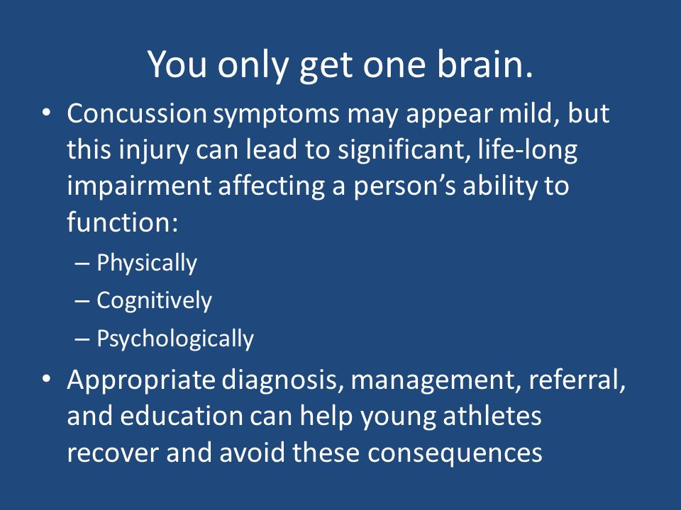 Image Result For Symptoms Of A Mild Concussion