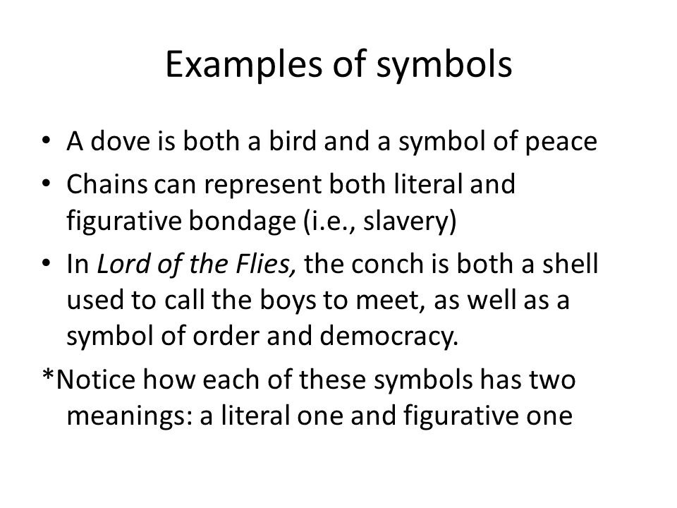 the use of symbols in lord The symbolism of power in william golding's lord of the flies an important theme in william golding's novel lord of the flies is social power relations these power relations are everywhere.