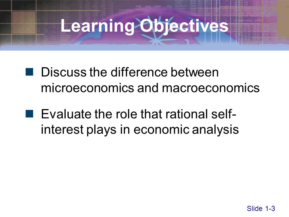 explain the difference between microeconomics and macroeconomics Start studying chapter 1 economics review learn vocabulary  define and explain the law of what is the difference between microeconomics and macroeconomics.
