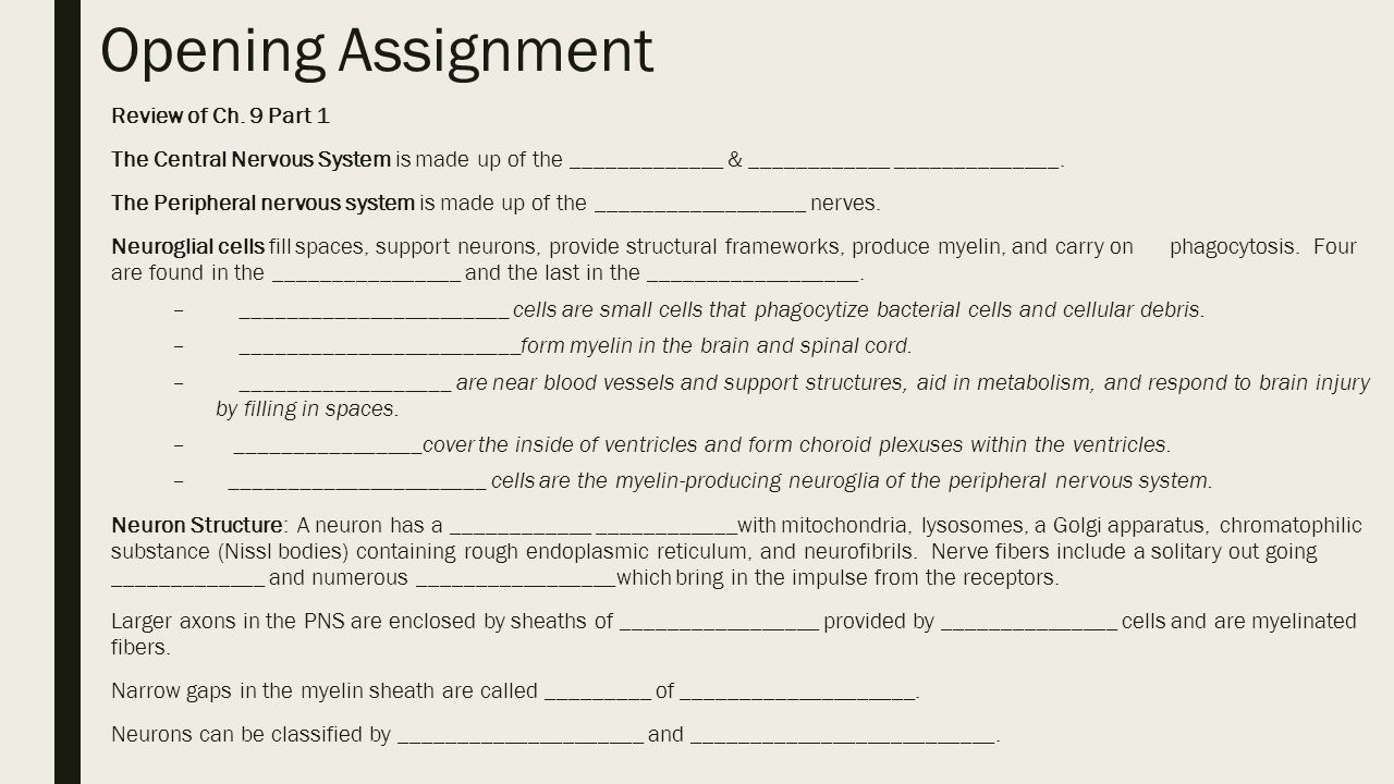 Opening Assignment Review of Ch. 9 Part 1 - ppt video online download