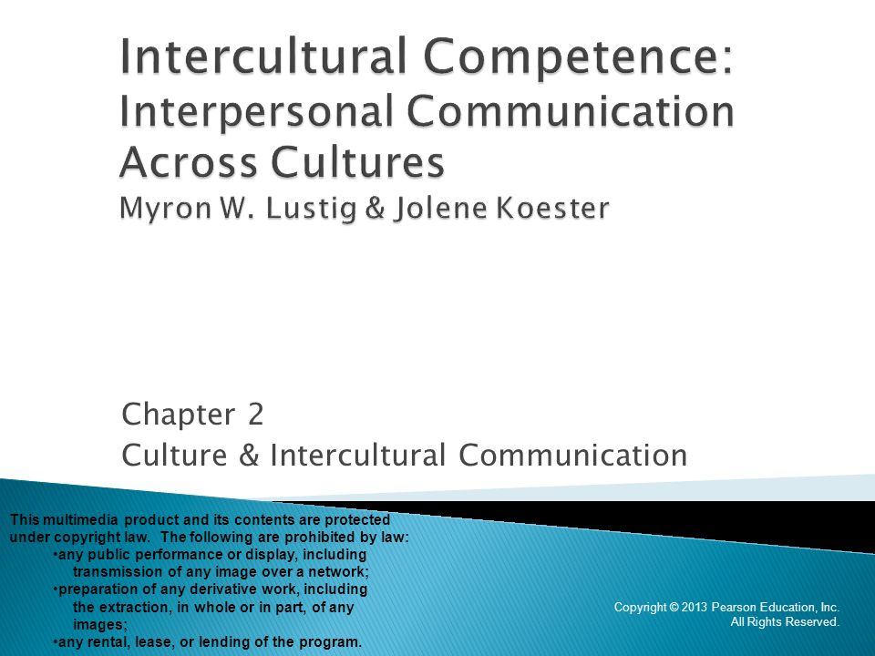 Chapter 2 Culture & Intercultural Communication