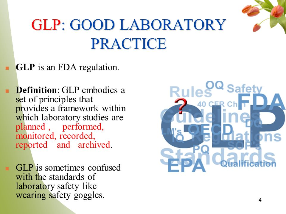 OECD PRINCIPLES OF GOOD LABORATORY PRACTICE