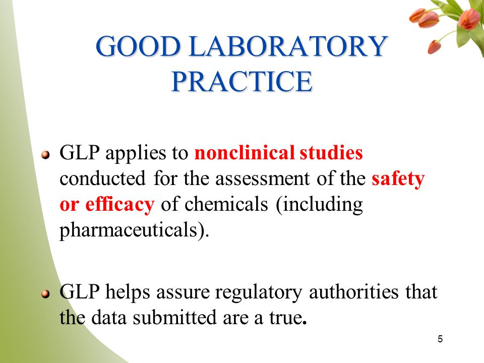 good laboratory practice Nathan teuscher discusses glp (good laboratory practice) and some common misconceptions about what glp means for drug development.