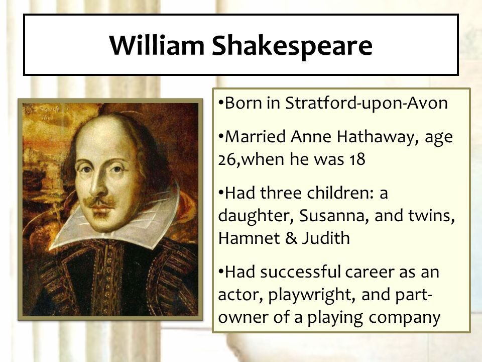 a biography and life work of william shakespeare an english playwright A year in the life of william shakespeare: 1599 james shapiro 4 extensive notes and a study of the biographical writings on shakespeare to date conclude the work at times this biography is overwritten for park honan's aptly titled biography, shakespeare: a life remains vague read.