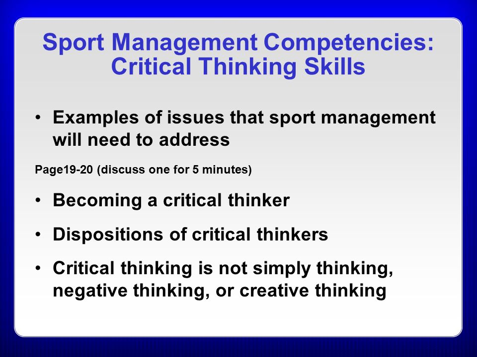 Critical Thinking Skills Examples
