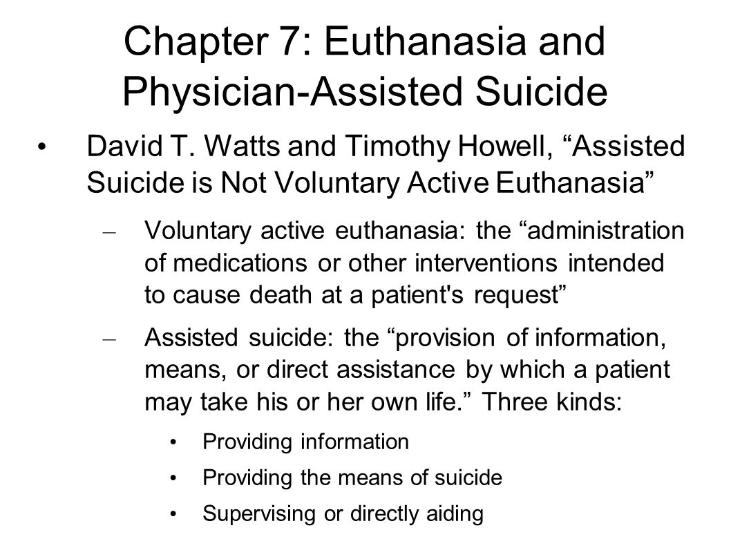 an essay on physician assisted suicide and euthanasia
