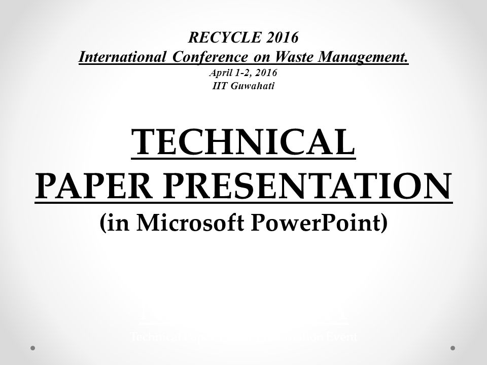technical paper presentation - ppt video online download, Poster Presentation Template Iit, Presentation templates
