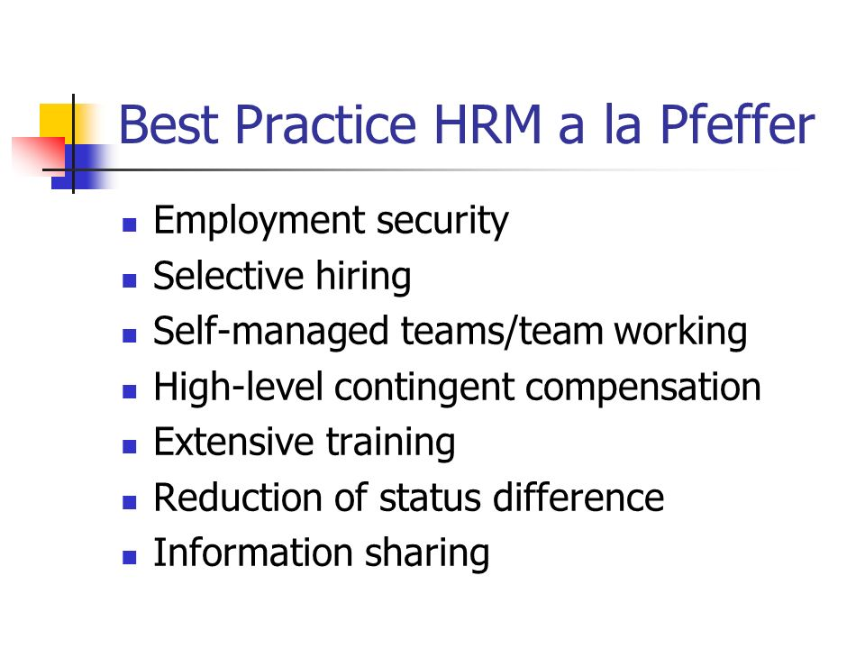 the best fit and the best practices compensation model essay The best fit approach refers to the firm using human resources management (hrm) to their particular strategies and adapting to the firm's condition and the environment referring to workforce character and business strategy.
