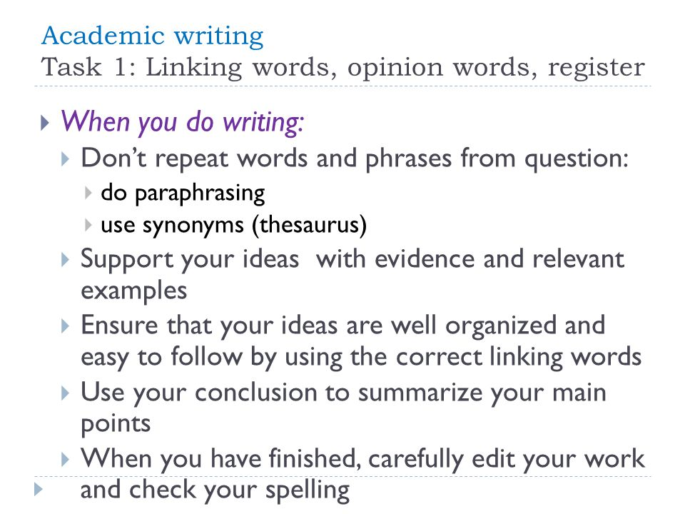 writing in english academic writing ppt  3 academic