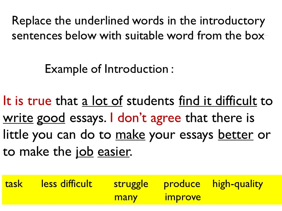 Words That Make An Essay Better