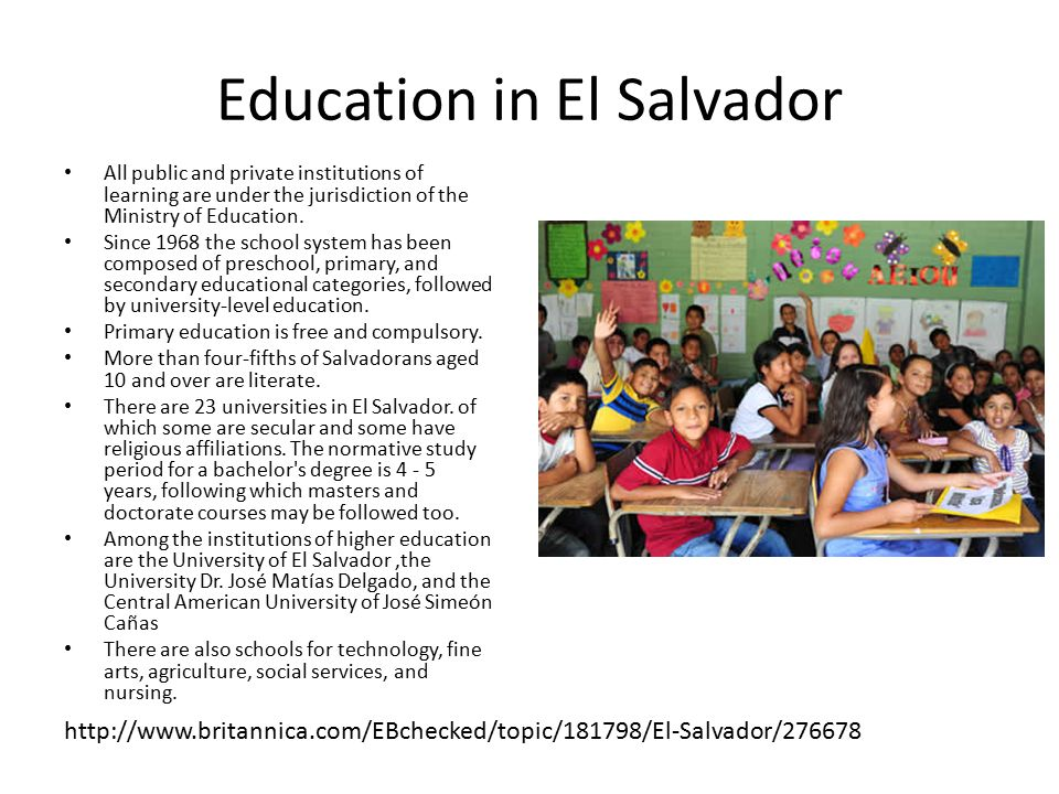 Education in El Salvador