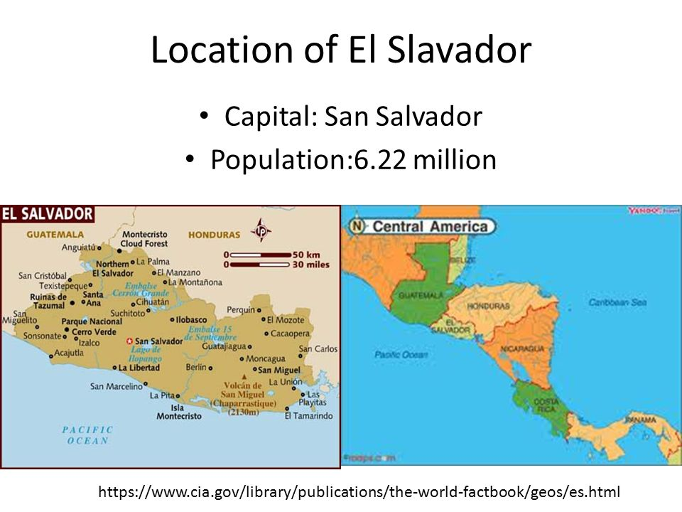 Location of El Slavador