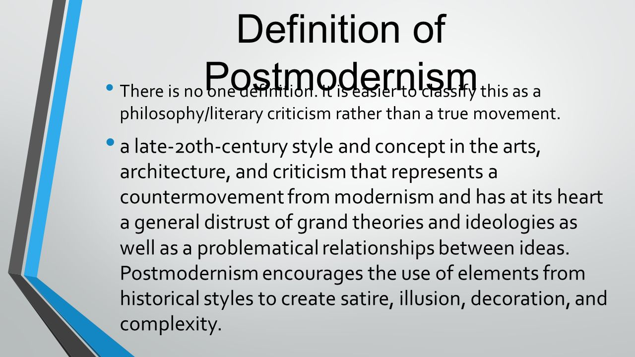 relationship between postmodernism and deconstruction