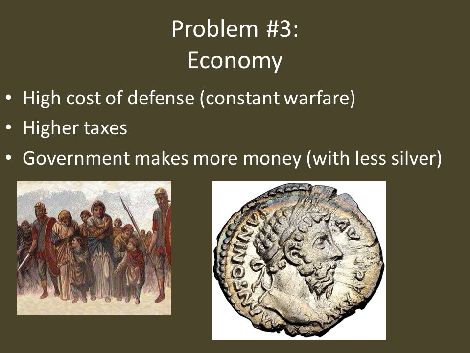 romes economical state and military decay as causes of the fall of the roman empire Even rome was not exempt though it dominated much of europe, northern  africa,  likewise, the roman empire did not fall in one night its decline was  gradual  similarly, these factors are at work among the societies of the  american and british  religion, pleasure-seeking, the economy, government  and the military.