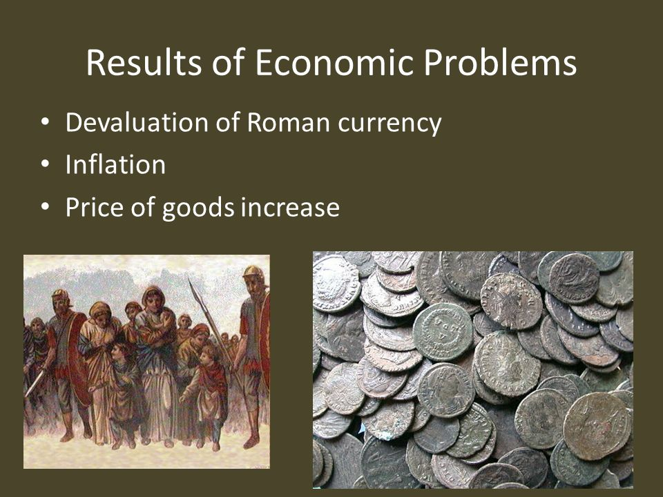 romes economical state and military decay as causes of the fall of the roman empire Just as the fall of rome was not caused by a single event, the way rome fell was also complex in fact, during the period of imperial decline, the empire actually expanded that influx of conquered peoples and lands changed the structure of the roman government.