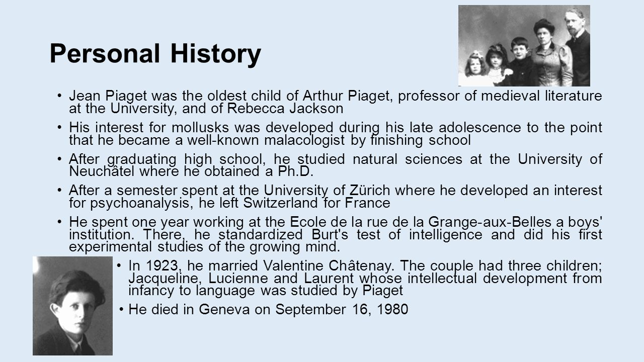 a introduction into the piagets theory of intelligence The origins of intelligence in children, 1952 jean piaget  theories of  childhood: an introduction to dewey, montessori, erikson, piaget, and vygotsky  lb.