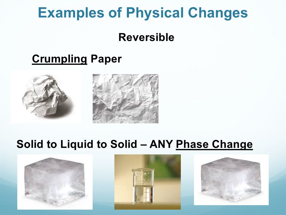 physical chemical changes essay Free essay: physical and chemical changes say you are presented with two beakers, beaker a and beaker b, each containing a white, powdery compound a from.
