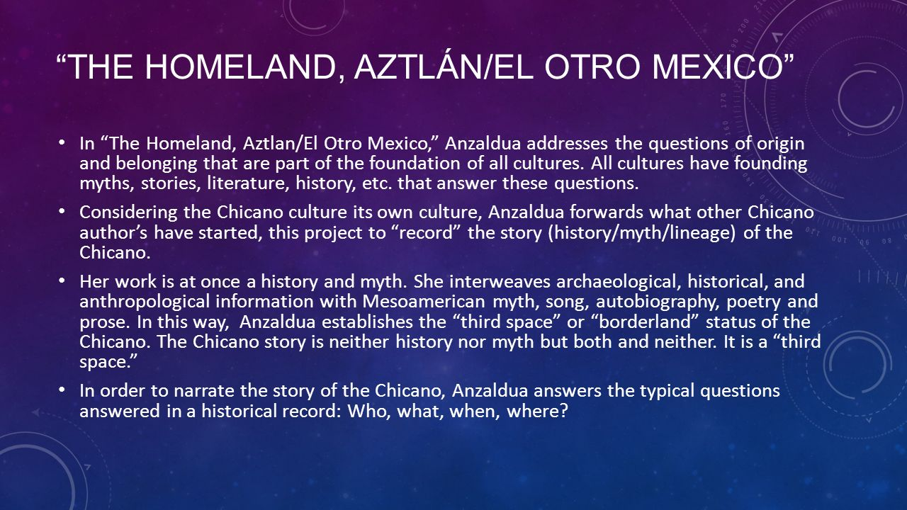 "gloria anzalduas aztlan the homeland Borderlands/la frontera 1 ""the homeland  gloria anzaldua borderlands-la frontera fabiana carvalho."