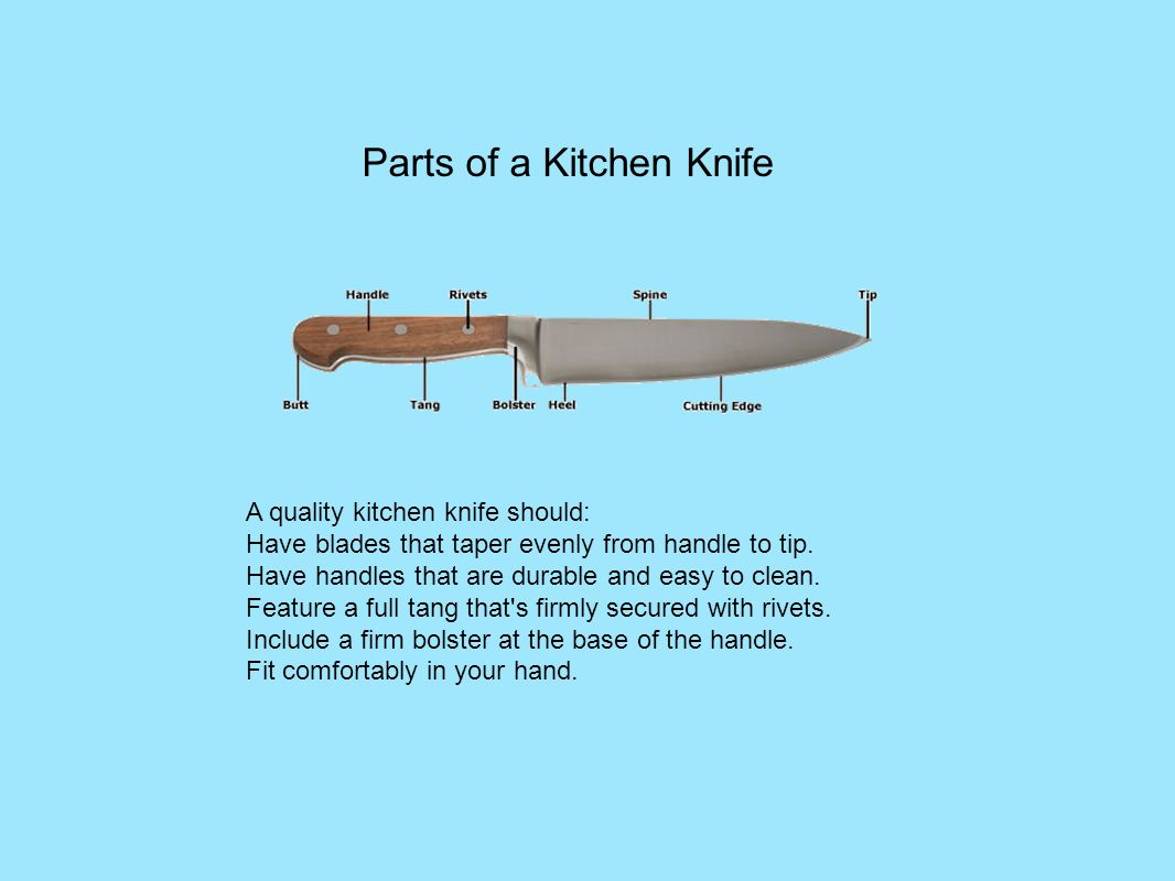 types techniques and tips ppt video online download parts of a kitchen knife